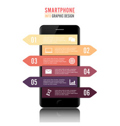 mobile phone for infographic template for vector image