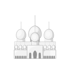 Mosque in UAE icon cartoon style vector