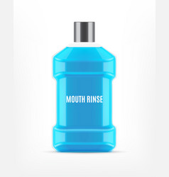 Mouth rinse bottle vector