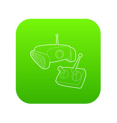 Moving camera icon green vector