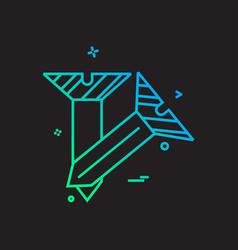 nail icon design vector image