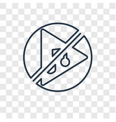 no fire concept linear icon isolated on vector image