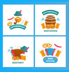 oktoberfest - bavarian festival set posters vector image