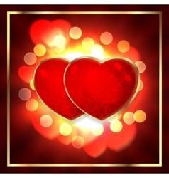 pair valentine heart on vector image