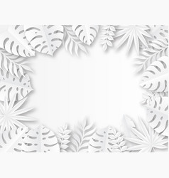 paper tropical leaves origami exotic hawaiian vector image