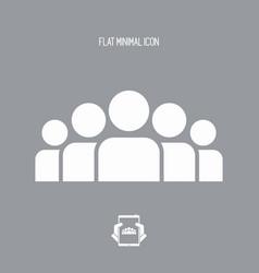People group - flat minimal icon vector