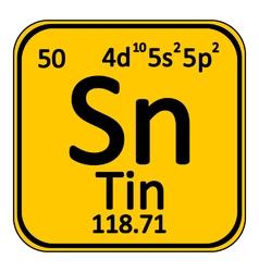 Periodic table element tin icon vector image