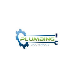 plumbing repair and service logo vector image