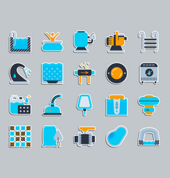 pool equipment patch sticker icons set vector image