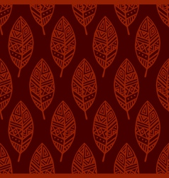 Red line ethic mexican leaf seamless pattern pr vector