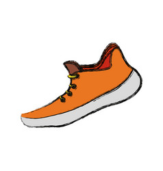Running shoe footwear vector