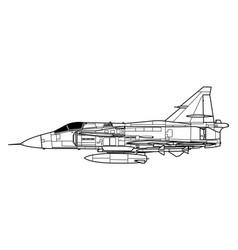 Saab 37 viggen vector