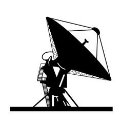 Satellite dish vector
