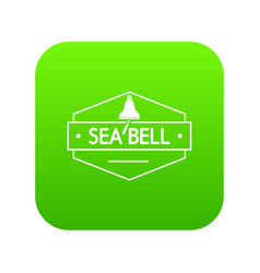 sea bell icon green vector image