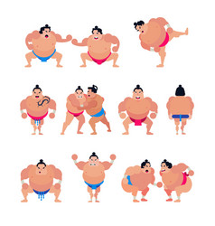 Sumo japanese fighter or sumowrestler vector