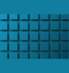 template of a blue background with squares vector image