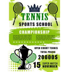 Tennis sports school open match vector
