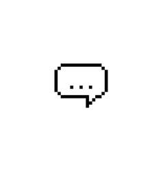 three dots pixel speech bubble vector image