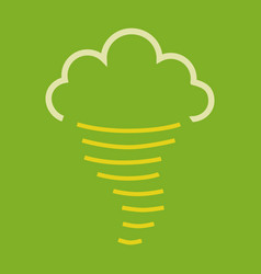 tornado icon simple of tornado icon for web fast vector image