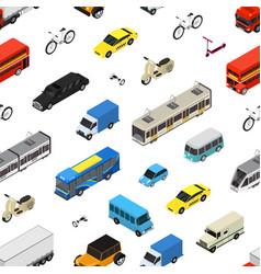 transport car 3d seamless pattern background vector image