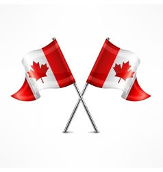 Two Canadian flag vector
