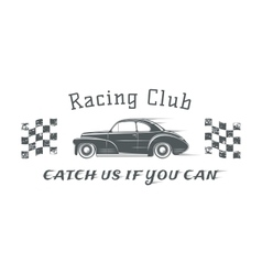 Vintage racing club badge template vector