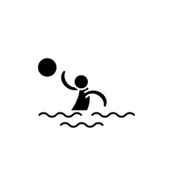 water volleyball black icon sign on vector image