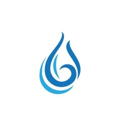 Wave water logo Template vector
