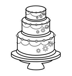 Wedding cake married vector