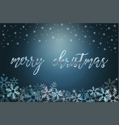 Winter holiday background with snow and christmas vector