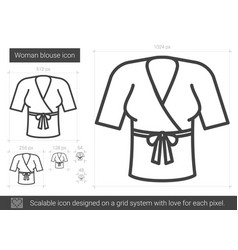 Woman blouse line icon vector