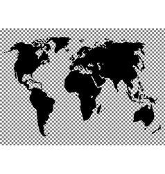 World map on the background vector image