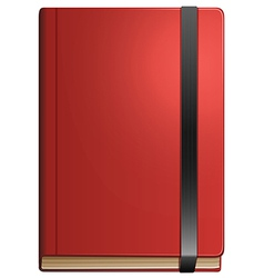 A topview of a notebook vector image vector image