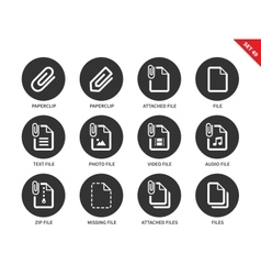 Attached file icons on white background vector image vector image