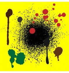 color splash vector image vector image