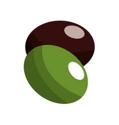 Fresh peas and beans delicious organ food vector