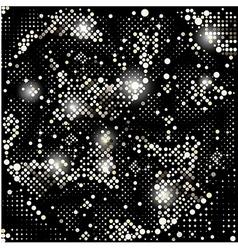 Gold background disco lights frame vector image vector image