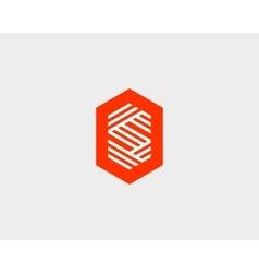 Letter S logo icon design Creative line vector image vector image