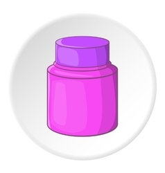 Shaving cream icon cartoon style vector image vector image