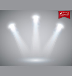 spotlights scene transparent light effects stage vector image