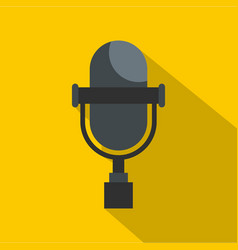 vintage classic microphone icon flat style vector image