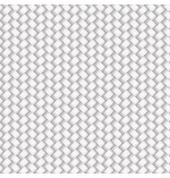 White Seamless Wicker Pattern vector image