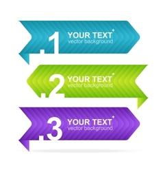 Arrow speech templates for text vector image vector image