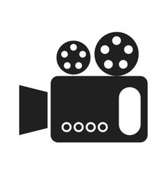black and white cinema camera graphic vector image