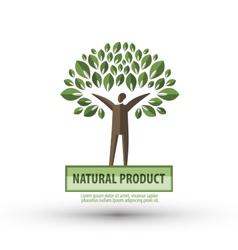 nature logo design template ecology or bio icon vector image