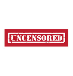 Red stamp uncensored vector image