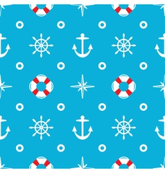 seamless sea pattern vector image