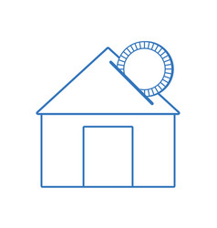 Silhouette house to save cash money economy vector
