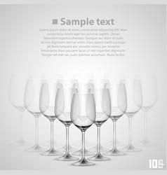 wineglass glass vector image