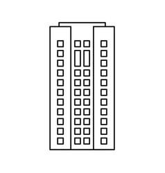building architecture residential skyscraper vector image vector image